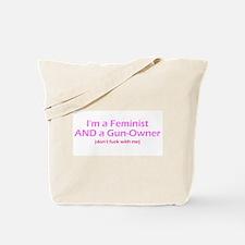 Gun-Owning Feminist Tote Bag