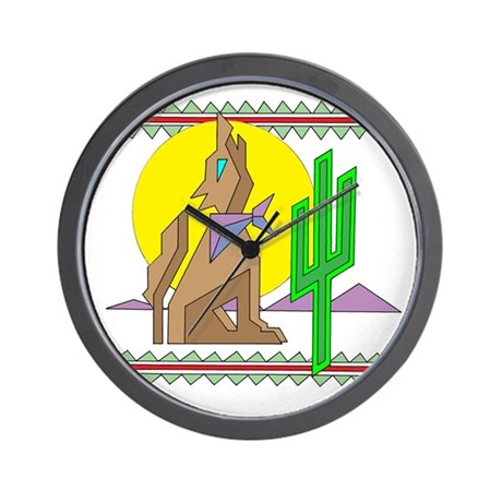 COYOTE (CACTUS) Wall Clock