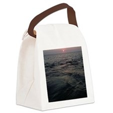 Sunset on Fire Island Canvas Lunch Bag