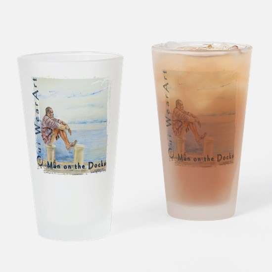 Man on the Docks Drinking Glass