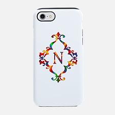 Colorful Letter N Monogram Ini iPhone 7 Tough Case