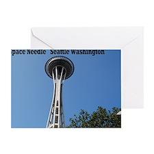 space needle Seattle Washington12x18 Greeting Card