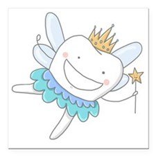 """Tooth Fairy Square Car Magnet 3"""" x 3"""""""
