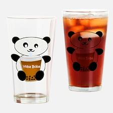 Boba Panda Drinking Glass