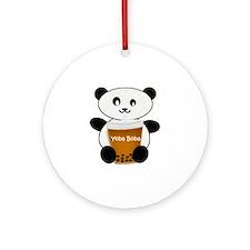 Boba Panda Round Ornament
