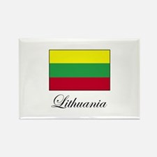 Lithuania - Lithuanian Flag Rectangle Magnet