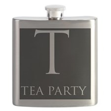 T Tparty postcard Flask