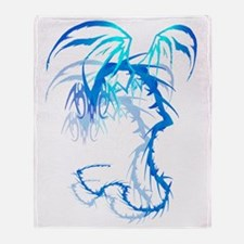 Lectrik Dragon Shadowed Trans Throw Blanket