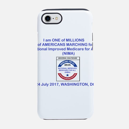 marching4medicare4all iPhone 7 Tough Case
