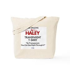 2-HALEY T-SHIRT Tote Bag