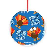 Turkey Fall Ornament (Round)
