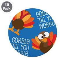 "Turkey Fall 3.5"" Button (10 pack)"