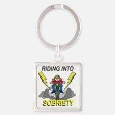riding-sobriety Square Keychain