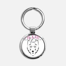 jacobswolfgirlw Round Keychain