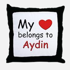 My heart belongs to aydin Throw Pillow