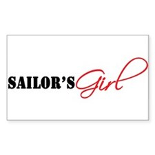 Sailor's Girl Rectangle Decal