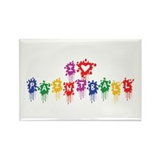 I Love Paintball Rectangle Magnet (10 pack)