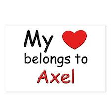 My heart belongs to axel Postcards (Package of 8)