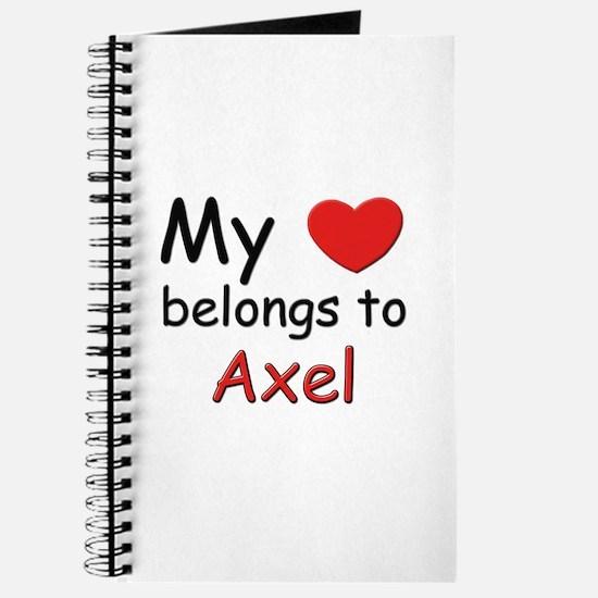 My heart belongs to axel Journal