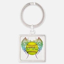 Buffy softball png Square Keychain