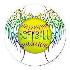 Buffy softball png Round Car Magnet