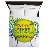 Softball Luxe Full/Queen Duvet Cover