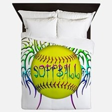 Buffy softball png Queen Duvet