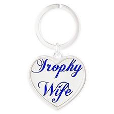 trophy wife blue copy Heart Keychain