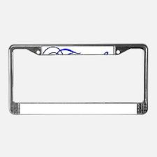 trophy husband blue License Plate Frame