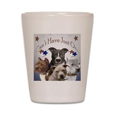 Pitbulls cant have just one Mousepad Shot Glass