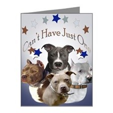 Pitbulls cant have just one  Note Cards (Pk of 20)
