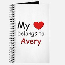 My heart belongs to avery Journal