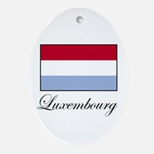 Luxemborg - Flag Oval Ornament