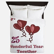 two hearts 25 Queen Duvet