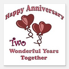 """two hearts two Square Car Magnet 3"""" x 3"""""""