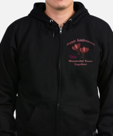 two hearts two Zip Hoodie
