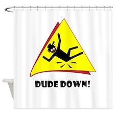 R-down-wt Shower Curtain