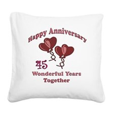 two hearts 45 Square Canvas Pillow