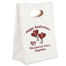 two hearts 40 Canvas Lunch Tote