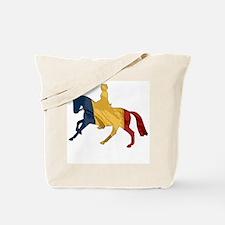Dressage horse, rider, Belgium Tote Bag