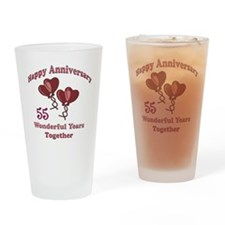 two hearts 55 Drinking Glass