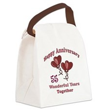 two hearts 55 Canvas Lunch Bag
