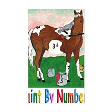 PAINT BY NUMBERS greeting card Decal