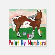 "PAINT BY NUMBERS T Shirt Square Sticker 3"" x 3"""