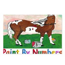 PAINT BY NUMBERS mugs Postcards (Package of 8)