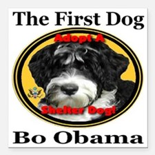 "Bo_adopt_a_shelter_dog_l Square Car Magnet 3"" x 3"""