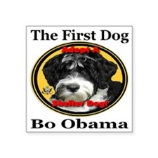 "Bo_adopt_a_shelter_dog_larg Square Sticker 3"" x 3"""