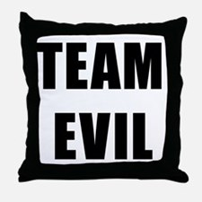 Team Evil Throw Pillow