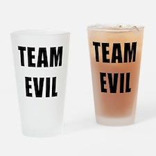 Team Evil Drinking Glass