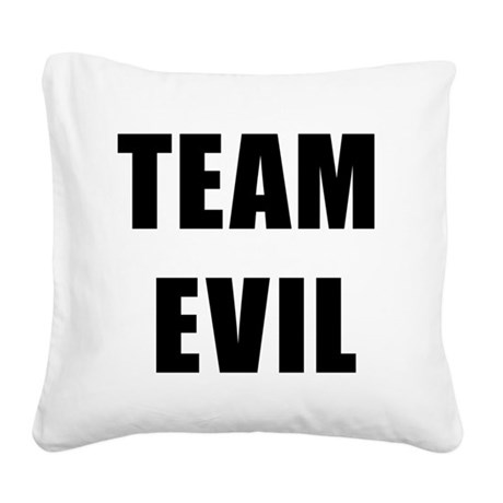 Team Evil Square Canvas Pillow